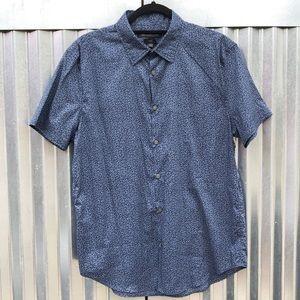 NEW John Varvatos printed button down shirt